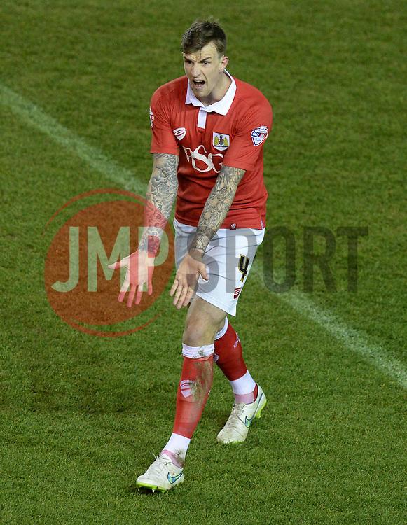 Bristol City's Aden Flint - Photo mandatory by-line: Alex James/JMP - Mobile: 07966 386802 - 29/01/2015 - SPORT - Football - Bristol - Ashton Gate - Bristol City v Gillingham - Johnstone Paint Trophy Southern area final