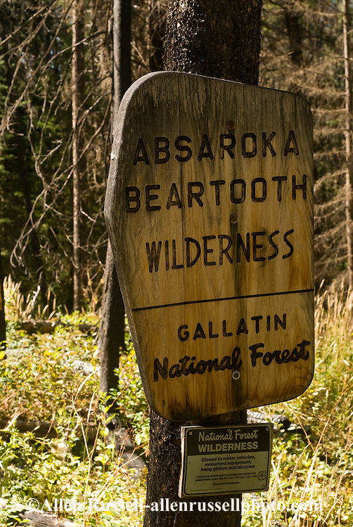 Entrance to Absaroka Beartooth Wilderness, Montana