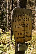 Entrance to Absaroka Beartooth Wilderness, Montana