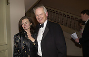Rt. hon Francis Maude MP and Christina Maude. The Leader's Dinner ( Michael Howard's ) Banqueting House. Whitehall. London.  November 2005. ONE TIME USE ONLY - DO NOT ARCHIVE  © Copyright Photograph by Dafydd Jones 66 Stockwell Park Rd. London SW9 0DA Tel 020 7733 0108 www.dafjones.com