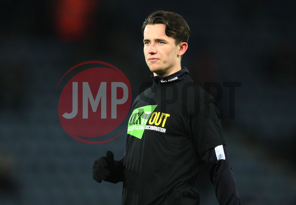 Ben Chilwell of Leicester City during the warm up - Mandatory byline: Jack Phillips/JMP - 02/02/2016 - FOOTBALL - King Power Stadium - Leicester, England - Leicester City v Liverpool - Barclays Premier League