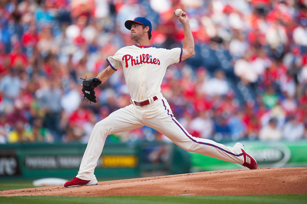 PHILADELPHIA, PA - JUNE 07: Cole Hamels #35 of the Philadelphia Phillies pitches during the game against the Los Angeles Dodgers at Citizens Bank Park on June 7, 2012 in Philadelphia, Pennsylvania. (Photo by Rob Tringali) *** Local Caption *** Cole Hamels