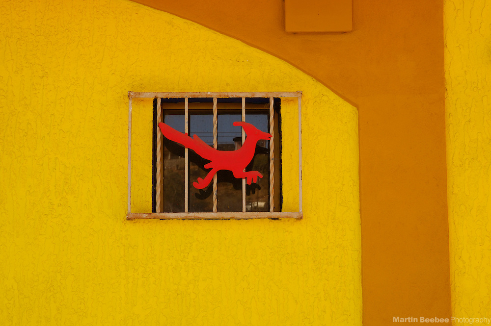 Colorful wall and window, Nogales, Sonora, Mexico