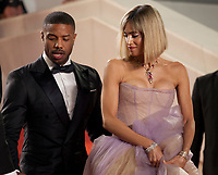 Michael B. Jordan and Sofia Boutella at the Farenheit 451 gala screening at the 71st Cannes Film Festival, Saturday 12th May 2018, Cannes, France. Photo credit: Doreen Kennedy