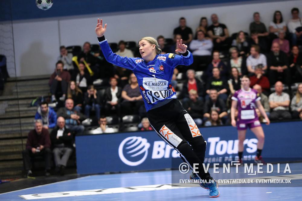 Martina Thörn (#1), FC Midtjylland. Women's EHF Champions League Quarter Final match between FC Midtjylland (DEN) and HC Vardar Skopje (MKD) in IBF Arena, Ikast, Denmark on 9.04.2017. Photo Credit: Allan Jensen/EVENTMEDIA.