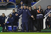Everton Manager Marco Silva arms apart and gestures during the The FA Cup fourth round match between Millwall and Everton at The Den, London, England on 26 January 2019.