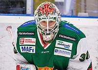2019-12-02 | Umeå, Sweden:Mora (33) Dan Bakala in HockeyAllsvenskan during the game  between Björklöven and Mora at A3 Arena ( Photo by: Michael Lundström | Swe Press Photo )<br /> <br /> Keywords: Umeå, Hockey, HockeyAllsvenskan, A3 Arena, Björklöven, Mora, mlbm191202