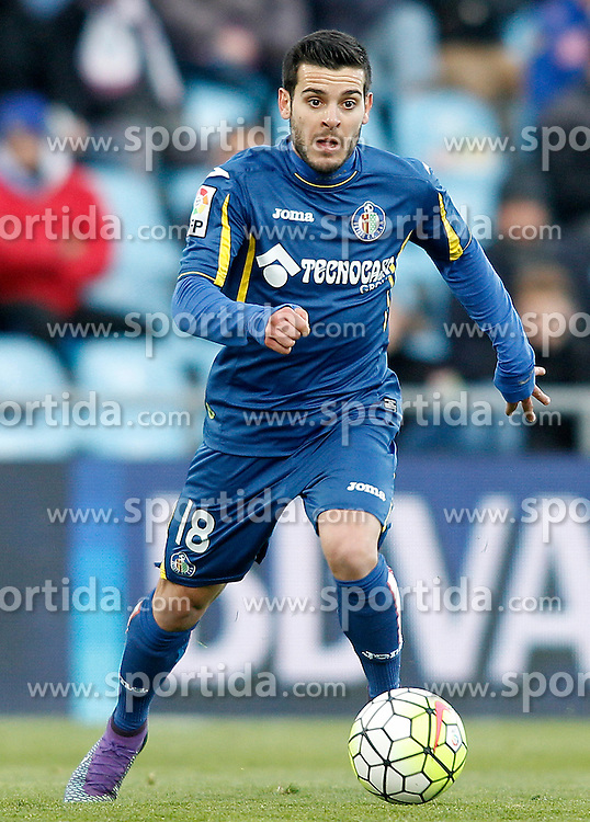 27.02.2016, Estadio Balaidos, Vigo, ESP, Primera Division, Getafe CF vs RC Celta, 26. Runde, im Bild Getafe's Victor Rodriguez // during the Spanish Primera Division 26th round match between Getafe CF and RC Celta at the Estadio Balaidos in Vigo, Spain on 2016/02/27. EXPA Pictures &copy; 2016, PhotoCredit: EXPA/ Alterphotos/ Acero<br /> <br /> *****ATTENTION - OUT of ESP, SUI*****