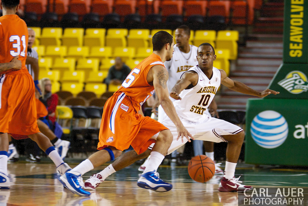 November 25th, 2010:  Anchorage, Alaska - Arizona State guard Jamelle McMillan (10) on defense in the Sun Devils 73-55 win over Houston Baptist in their first round game at the Great Alaska Shootout.