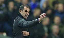 28.01.2014, Anfield, Liverpool, ENG, Premier League, FC Liverpool vs FC Everton, 23. Runde, im Bild Everton's manager Roberto Martinez // during the English Premier League 23th round match between Liverpool FC and Everton FC at Anfield in Liverpool, Great Britain on 2014/01/29. EXPA Pictures &copy; 2014, PhotoCredit: EXPA/ Propagandaphoto/ David Rawcliffe<br /> <br /> *****ATTENTION - OUT of ENG, GBR*****