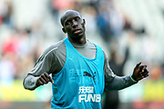 Mohamed Diame (#10) of Newcastle United during the warm up ahead of the Premier League match between Newcastle United and Brighton and Hove Albion at St. James's Park, Newcastle, England on 20 October 2018.