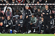 Manchester United manager Jose Mourinho signals to his players during the Premier League match between Bournemouth and Manchester United at the Vitality Stadium, Bournemouth, England on 18 April 2018. Picture by Graham Hunt.