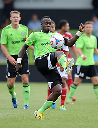 Forest Green Rovers Alhassan Bangura - Photo mandatory by-line: Dan Rowley/JMP  - Tel: Mobile:07966 386802 20/07/2013 -Forest Green Rovers  vs Bristol City  - SPORT - FOOTBALL - Forest Green Rovers - Bristol city  -