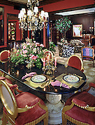 Residential interior carpet house home Luxury Dining room, Interior Design, table, glass top, carved stone base