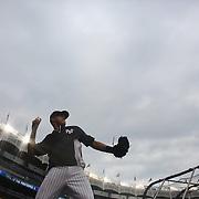 Derek Jeter, New York Yankees, during practice before the New York Yankees V New York Mets, Subway Series game at Yankee Stadium, The Bronx, New York. 12th May 2014. Photo Tim Clayton
