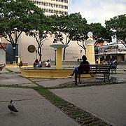 La Plaza de San Jacinto o Plaza El Venezolano es uno de los espacios públicos más antiguos de Caracas. Está rodeada por la Casa Natal del Libertador Simón Bolívar, el Museo Bolivariano y otras edificaciones de la época de la colonia española en Venezuela. Caracas 24 de agosto del 2008. (Aaron Sosa / Orinoquiaphoto)