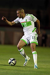 June 6, 2017 - Blida, Algiers, Algeria - Algerian's Islam Slimani controls the ball during Friendly match Algeria v Guinea at the Mustapha Tchaker Stadium in Blida, Algeria, on 6 June 2017. (Credit Image: © Billal Bensalem/NurPhoto via ZUMA Press)