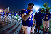 Folsom Bulldogs Tommy Nunez (59), waits for the start of the late game  as the Folsom Bulldogs host the Jesuit Marauders,  Friday Sep 1, 2017. The Game was moved to Folsom from Jesuit due to the high temperatures. <br /> photo by Brian Baer