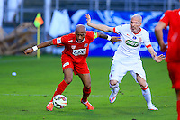 Toifilou MAOULIDA / Andrea RAGGI - 04.01.2014 - Nimes / Monaco - Coupe de France<br />Photo : Nicolas Guyonnet / Icon Sport