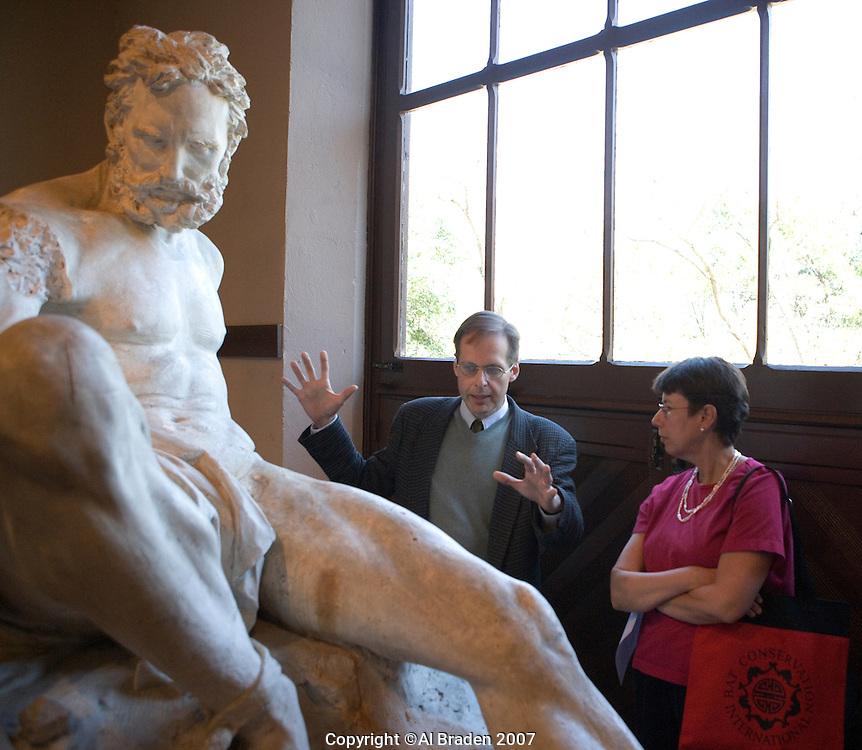 Professor Louis Waldman of University of Texas discusses Prometheus Bound Sculpture at Elizabet Ney Museum, Austin, Texas.