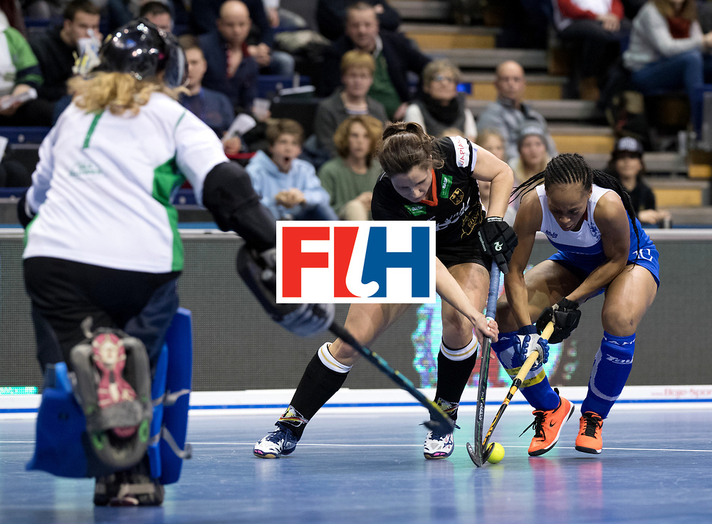 BERLIN - Indoor Hockey World Cup<br /> Women: Germany - Namibia<br /> foto: Luisa Steindor and MENGO Magreth.<br /> WORLDSPORTPICS COPYRIGHT FRANK UIJLENBROEK