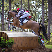 Selena O'Hanlon (CAN) and Foxwood High at the Red Hills International Horse Trials in Tallahassee, Florida.