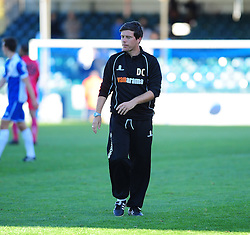 A dejected Bristol Rovers Manager, Darrell Clarke after the draw with Dover Athletic - Photo mandatory by-line: Neil Brookman - Mobile: 07966 386802 - 04/10/2014 - SPORT - Football - Bristol - Memorial Stadium - Bristol Rovers v Dover - Vanarama Football Conference