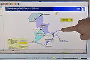 Nederland, the netherlands, Lelystad, 15-6-2018 Het sluizencomplex bij Lelystad speelt een belangrijke rol in de waterverdeling voor het IJsselmeer en het achterland . Met de aanhoudende droogte wordt er gespuid om het grondwaterpeil in het achterland op hoogte te houden . Door de verschillende sluizen en stuwen te gebruiken kan de waterstand op de cm. nauwkeurig geregeld wordenFoto: Flip Franssen