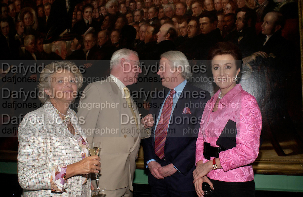 Dame Vivian Clore, Jocelyn Stevens, Sid Bass and Mercedes Bass. Celebration of Lord Weidenfeld's 60 Years in Publishing hosted by Orion. the Weldon Galleries. National Portrait Gallery. London. 29 June 2005. ONE TIME USE ONLY - DO NOT ARCHIVE  © Copyright Photograph by Dafydd Jones 66 Stockwell Park Rd. London SW9 0DA Tel 020 7733 0108 www.dafjones.com