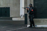 EURO 2016: safety drill at the stadium of the  Olympique Lyonnais<br /> EURO 2016 : exercice de securite au stade Parc OL.<br /> Dans le cadre de la preparation a l'Euro 2016, un exercice de securite grandeur nature a eu lieu lundi 30 mai 2016<br /> au Parc Olympique Lyonnais de D&eacute;cines.<br /> Les services de securite, forces militaires et services de sante ont ete deployes en configuration reelle pour faire face au scenario d'attaque terroriste suivant :<br /> A la suite du match Ukraine / Irlande du Nord, deux kamikazes actionnent leur ceinture d'explosifs sur les rampes d'acces au stade du parvis Nord. <br /> L'explosion fait environ 80 victimes et 10 decedes, dont un des kamikazes. <br /> L'evenement produit un mouvement de panique et une dispersion de la foule. <br /> <br /> EURO 2016: safety drill at the stadium of the  Olympique Lyonnais<br /> Within the framework of the preparation for the Euro 2016, a real exercise took place on Monday, May 30th, 2016 in the Park Olympique Lyonnais of D&eacute;cines.<br /> <br /> Security services, armed forces and health services were deployed in real configuration to face the scenario of terrorist attack:<br /> Following the match Ukraine / Ulster(Northern Ireland), two kamikazes activate their belt of explosives on access ramps of the stadium, to the north forecourt. The explosion makes approximately 80 victims and 10 died, of which one of the kamikazes. The event produces a wave of panic and a dispersal of the crowd. Presence of foreign victims.