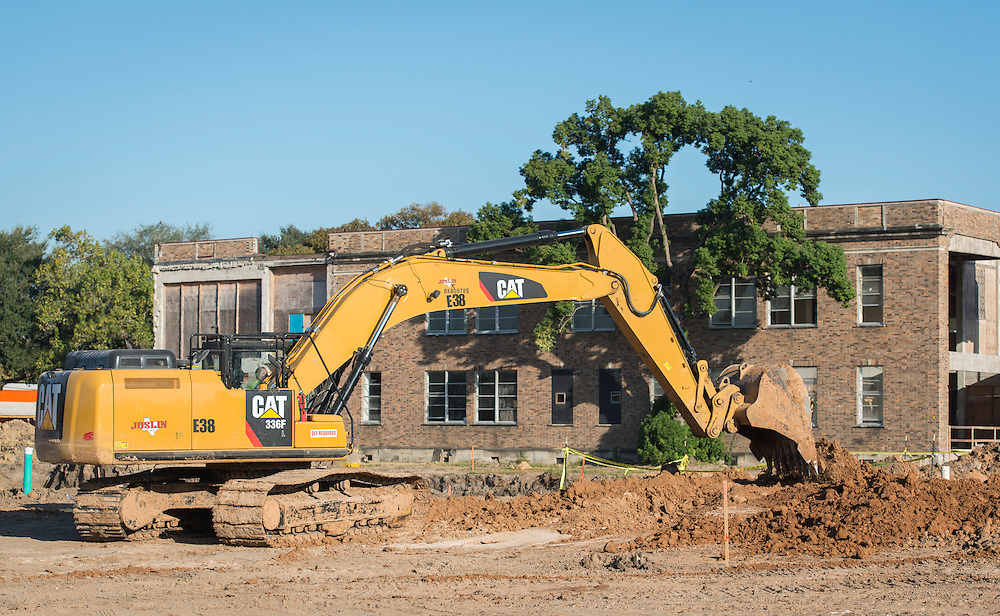 Construction at Milby High School, October 16, 2015.