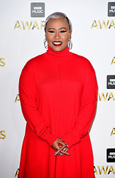 Emeli Sande attending the BBC Music Awards at the Royal Victoria Dock, London.