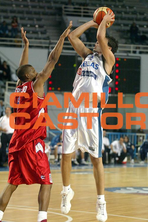 DESCRIZIONE : MAR DEL PLATA FIBA UNDER 21 WORLD CHAMPIONSHIP FOR MEN CAMPIONATO DEL MONDO UNDER 21 MASCHILE<br />GIOCATORE : VASILEIADIS<br />SQUADRA : GRECIA<br />EVENTO : UNDER 21 WORLD CHAMPIONSHIP FOR MAN CAMPIONATO DEL MONDO UNDER 21 MASCHILE<br />GARA : PUERTO RICO-GRECIA<br />DATA : 12/08/2005<br />CATEGORIA : Tiro<br />SPORT : Pallacanestro<br />AUTORE : AGENZIA CIAMILLO &amp; CASTORIA/M.Ciamillo