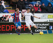 Dundee's Cammy Kerr and Inverness' Carl Tremarco - Inverness Caledonian Thistle v Dundee in the Ladbrokes Scottish Premiership at Caledonian Stadium, Inverness.Photo: David Young<br /> <br />  - © David Young - www.davidyoungphoto.co.uk - email: davidyoungphoto@gmail.com