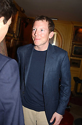 HON.NAT ROTHSCHILD at a private dinner and presentation of Issa's Autumn-Winter 2005-2006 collection held at Annabel's, 44 Berkeley Square, London on 15th March 2005.<br /><br />NON EXCLUSIVE - WORLD RIGHTS