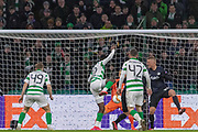 Odsonne Edouard of Celtic FC  nearly opens the home sides account during the Europa League match between Celtic and FC Copenhagen at Celtic Park, Glasgow, Scotland on 27 February 2020.