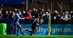 Josh Adams of Worcester Warriors scores in the corner  - Mandatory by-line: Alex Davidson/JMP - 22/12/2017 - RUGBY - Sixways Stadium - Worcester, England - Worcester Warriors v London Irish - Aviva Premiership