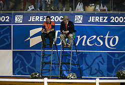 Jurylid Jan Boogaerts<br /> World Equestrian Games Jerez de la Fronteira 2002<br /> Photo © Dirk Caremans