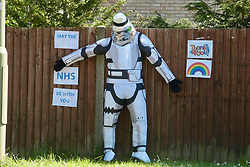 Star Wars figure during Coronavirus lockdown - May the NHS be with you! Dorset UK May 2020