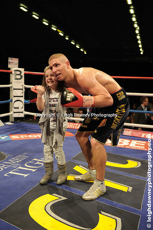 Brian Rose (black shorts) defeats Jason Rushton at the Bolton Arena, Bolton, UK on 23rd September 2009. Frank Maloney Promotions. photo credit © Leigh Dawney