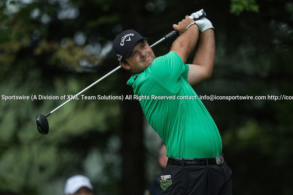 September 8, 2016: Patrick Reed tees off during the first round of the BMW Championship at Crooked Stick Golf Club in Carmel, IN.  (Photo by Zach Bolinger/Icon Sportswire)