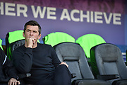 Fleetwood Town Manager, Joey Barton during the EFL Sky Bet League 1 match between Portsmouth and Fleetwood Town at Fratton Park, Portsmouth, England on 20 October 2018.