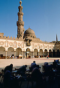 Students working within the Alcazhar Mosque in Cairo, Egypt