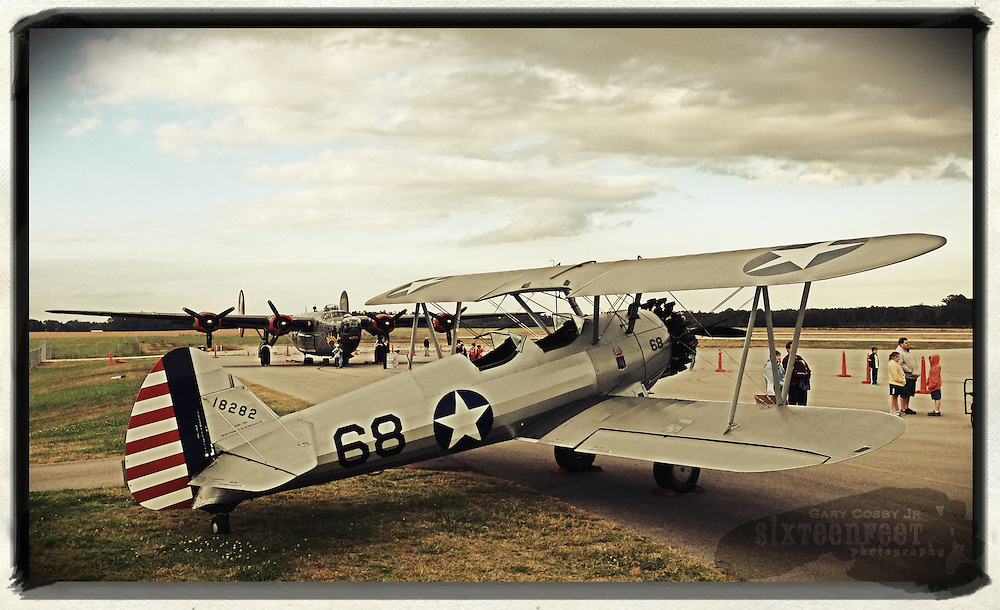 Gary Cosby Jr.  iPhone photographs<br /> A Steerman biplane on display at Pryor Field in Decatur, Alabama.