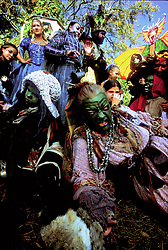 Stock photo of a group dressed as ogres and trolls at the Texas Renaissance Festival in Plantersville Texas
