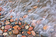 Rocks on Pebble Beach. Lake Superior. <br />