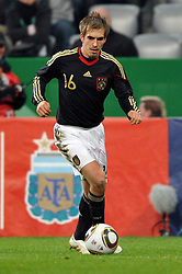 03.03.2010, Allianz Arena Muenchen, Muenchen, GER,  Laenderspiel Deutschland ( GER ) - Argentinien ( ARG ) 0 - 1. Im Bild Philipp Lahm  (  GER / Bayern #16 ). EXPA Pictures © 2010, PhotoCredit: EXPA/ nph/  Kurth / for Slovenia SPORTIDA PHOTO AGENCY.