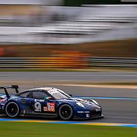 #80, Ebimotors, Porsche 911 RSR, LMGTE Am, driven by: Fabio Babini, Christina Nielsen, Erik Maris, 24 Heures Du Mans  2018, , 14/06/2018,