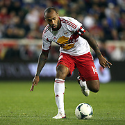 Thierry Henry, New York Red Bulls, in action during the New York Red Bulls V Houston Dynamo , Major League Soccer second leg of the Eastern Conference Semifinals match at Red Bull Arena, Harrison, New Jersey. USA. 6th November 2013. Photo Tim Clayton
