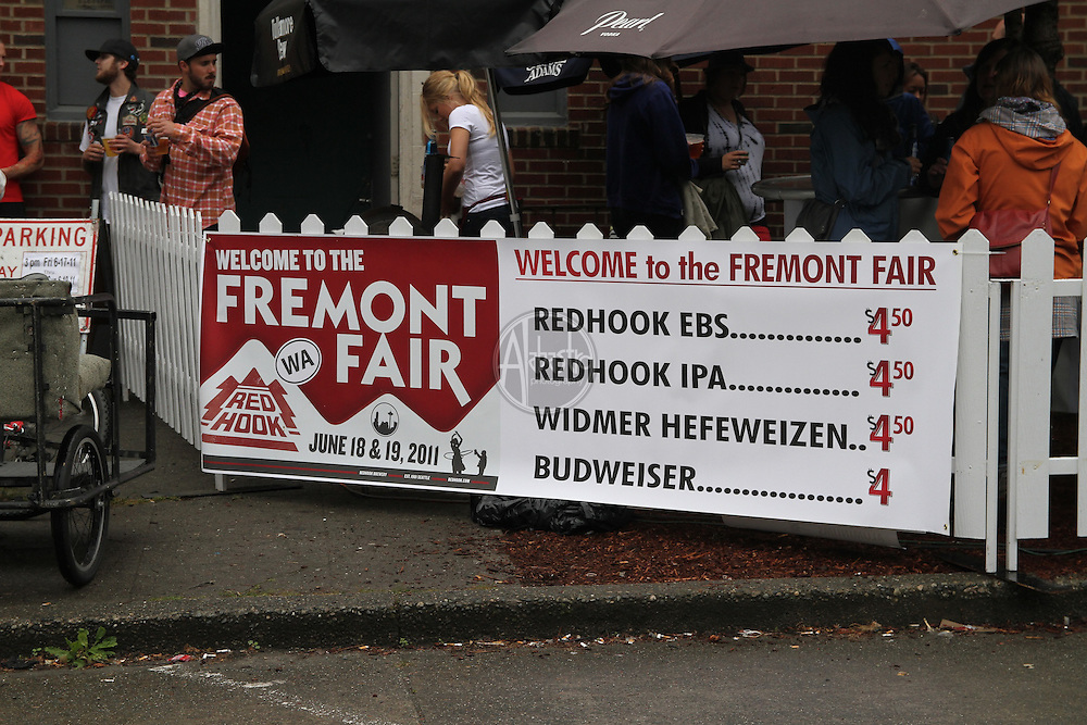 Local shops during the 40th Annual Fremont Fair 2011